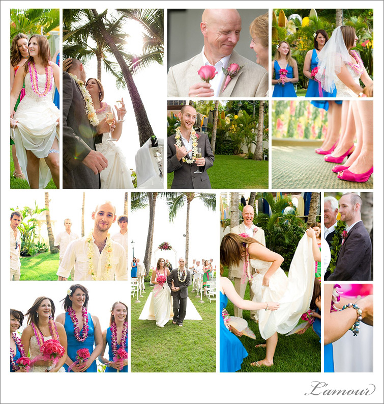 Oahu Wedding Photoraphy. Moana Surfrider Diamond Lawn Beach Wedding Ceremony.
